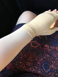 Lymph-y arm. Hello compression garment and gauntlet.